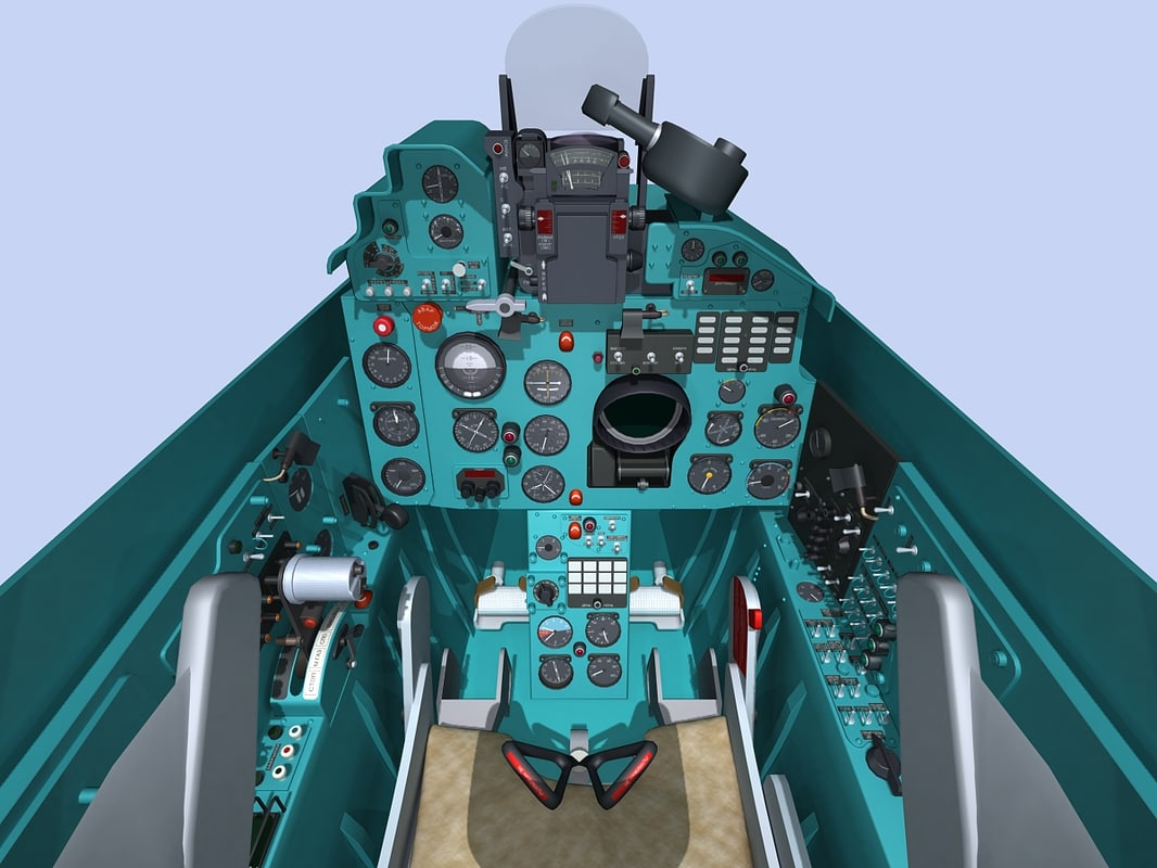 3dsmax mig-21 cockpit