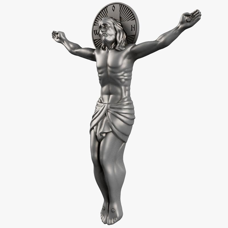 3d crucifixion jesus crucifix