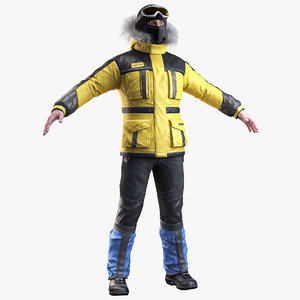 realistic boots jacket 3d model