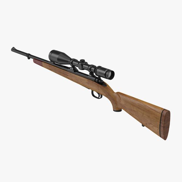 hunting rifle obj
