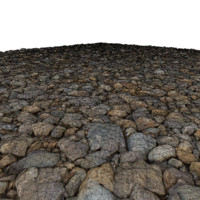 ground gravel 3d obj
