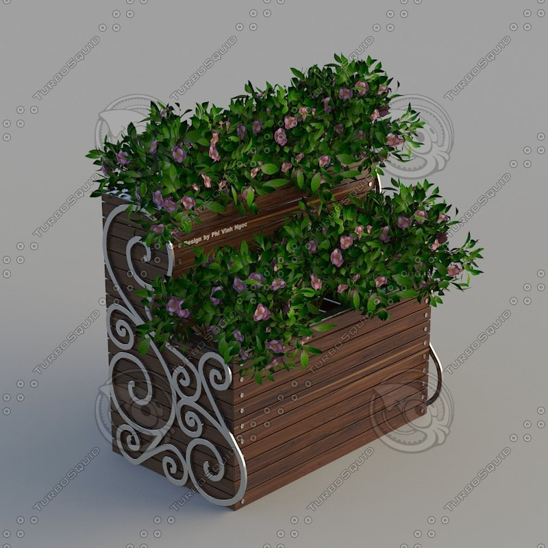 flower stand wood 3d max