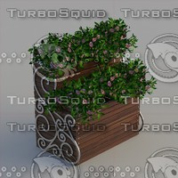 Wood Flower Stand