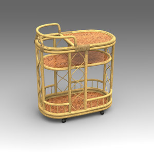3d rotang table furniture model
