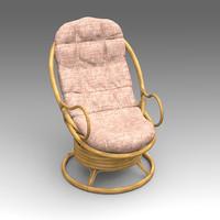 rotang armchair furniture fbx
