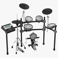 Electronic Drum Kit Generic 3D Model