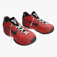 Sneakers Nike Zoom Red 3D Model