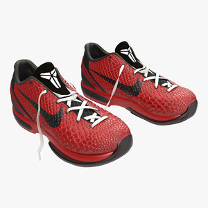 3d model sneakers nike zoom red