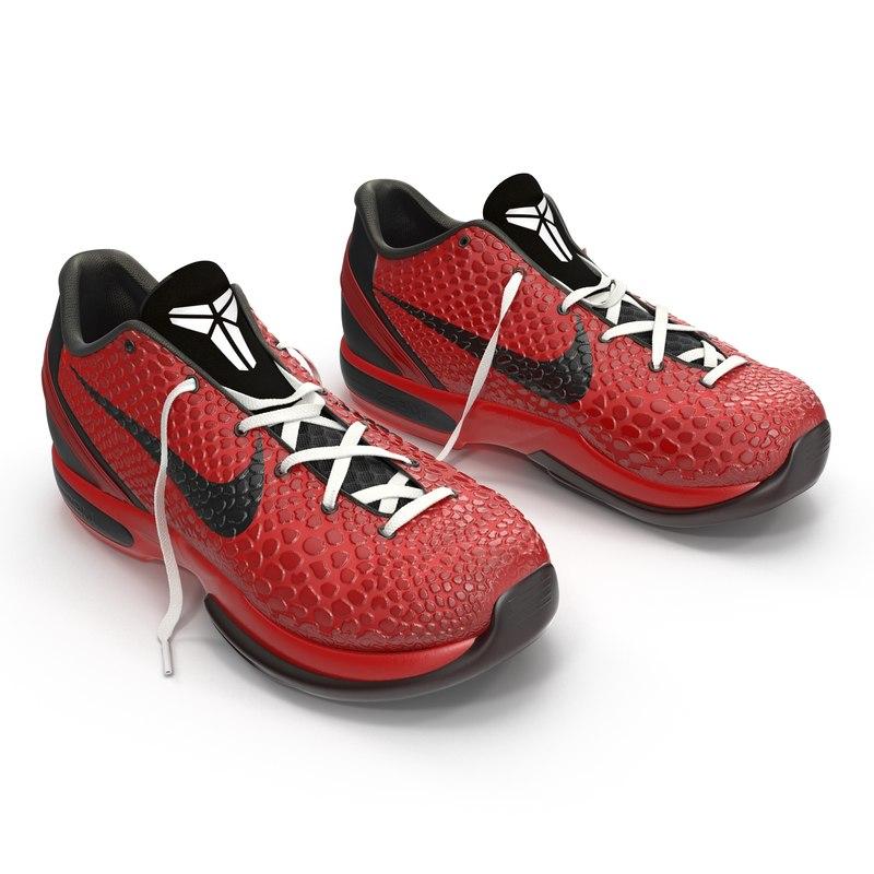 3d model sneakers nike zoom red