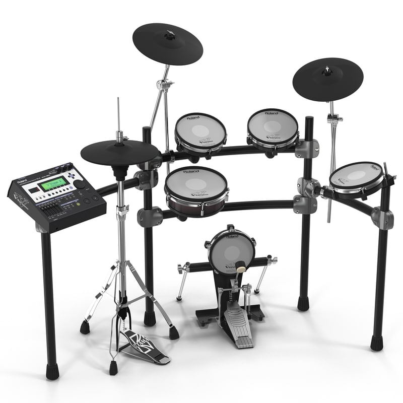 v stage electronic drum kit 3d max