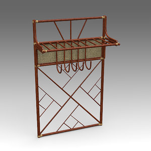 3d model of rpotang clothes rack