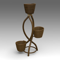 rotang support flowers 3d model