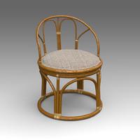 rotang chair furniture 3d x