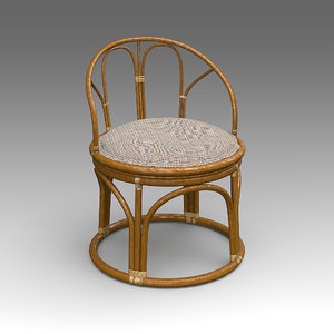 rotang chair furniture 3d x