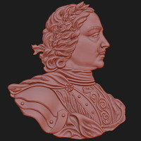 3d model peter great relief