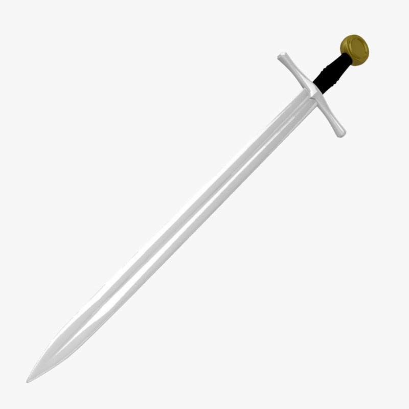 3d model edged sword
