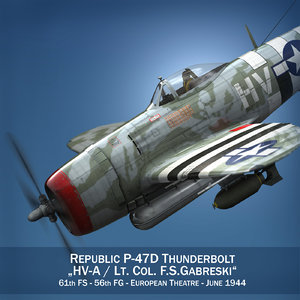 3d republic p-47 thunderbolt -