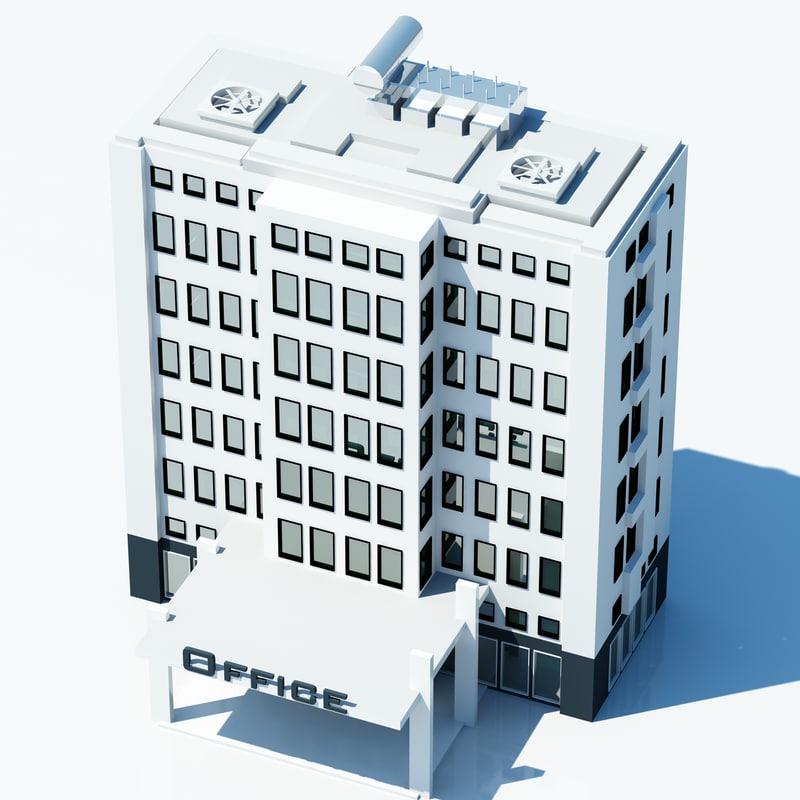 3dsmax office building symbol