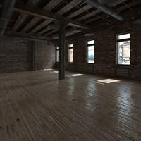 3d base loft interior scene