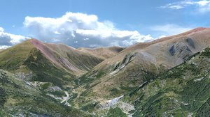 3d pyrenees mountain landscape range
