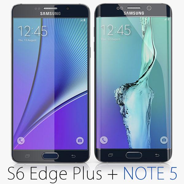 3d model samsung galaxy note 5
