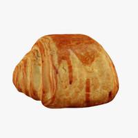 pain au chocolat 3d max
