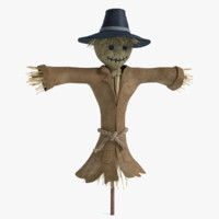 scarecrow crow 3d max