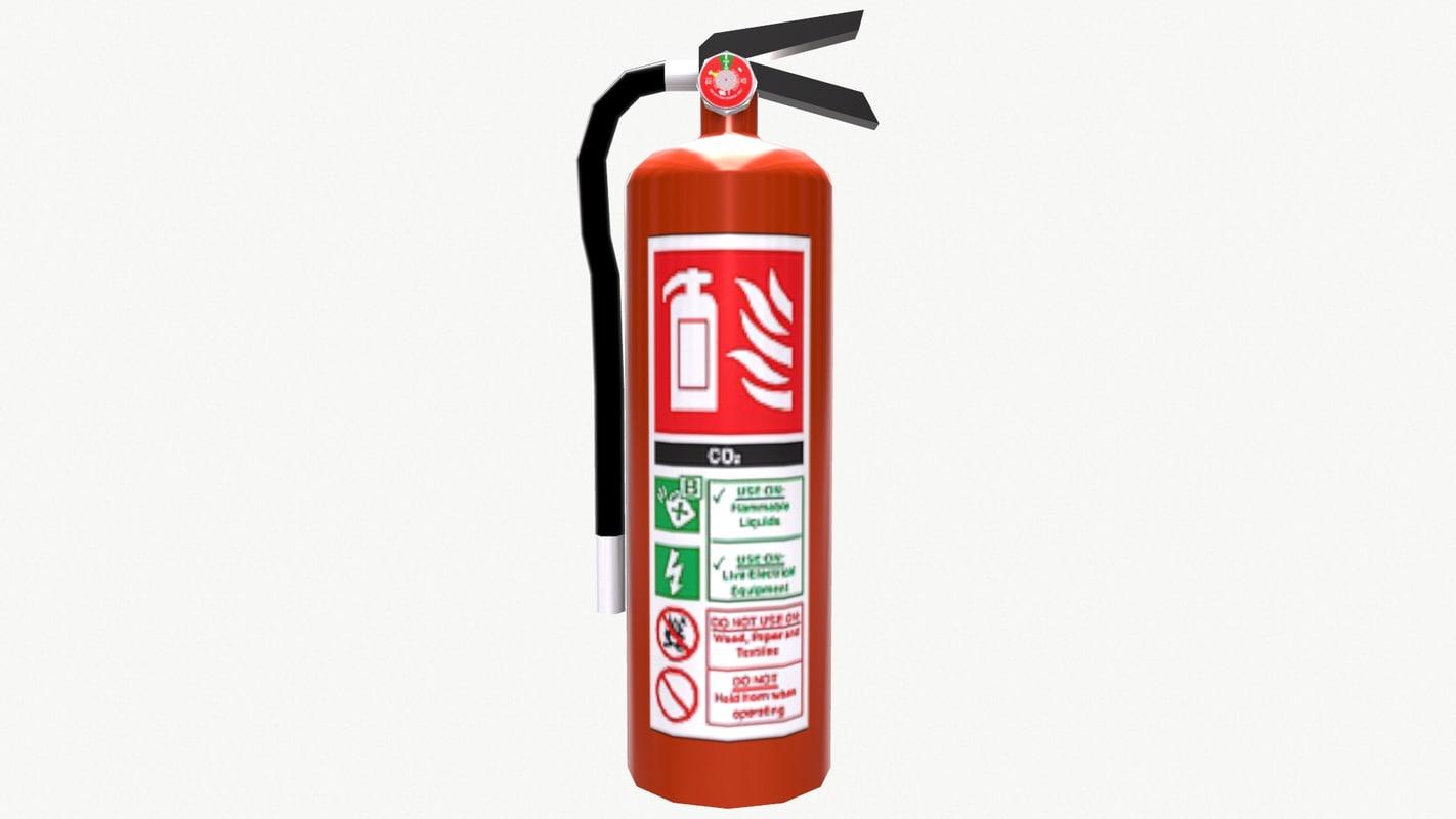 extinguisher ready pbr 3d model