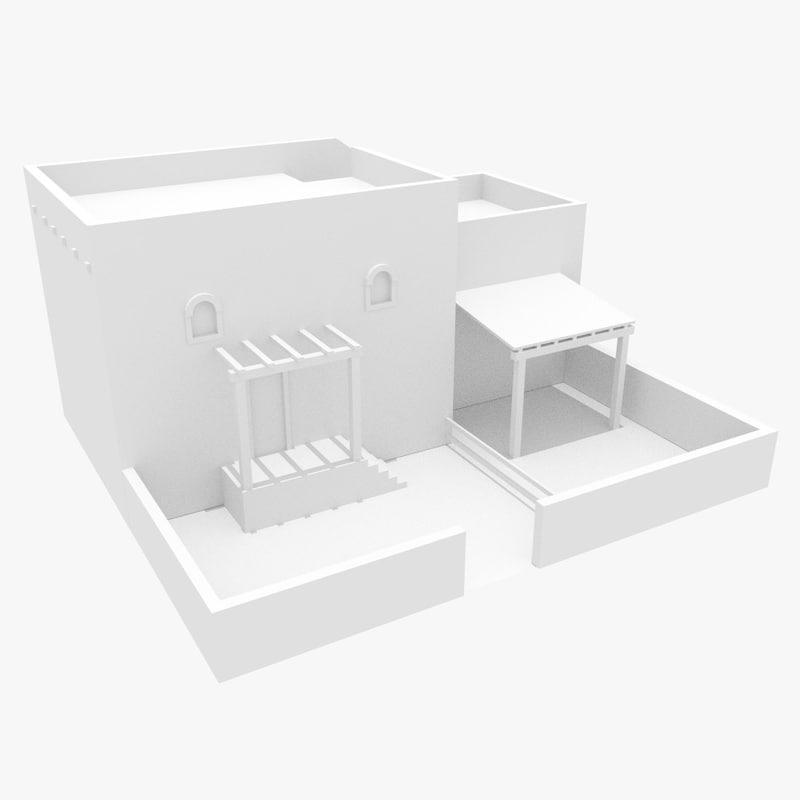 ancient israeli house obj