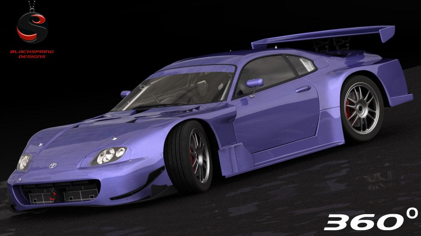 toyota supra 2005 3d model
