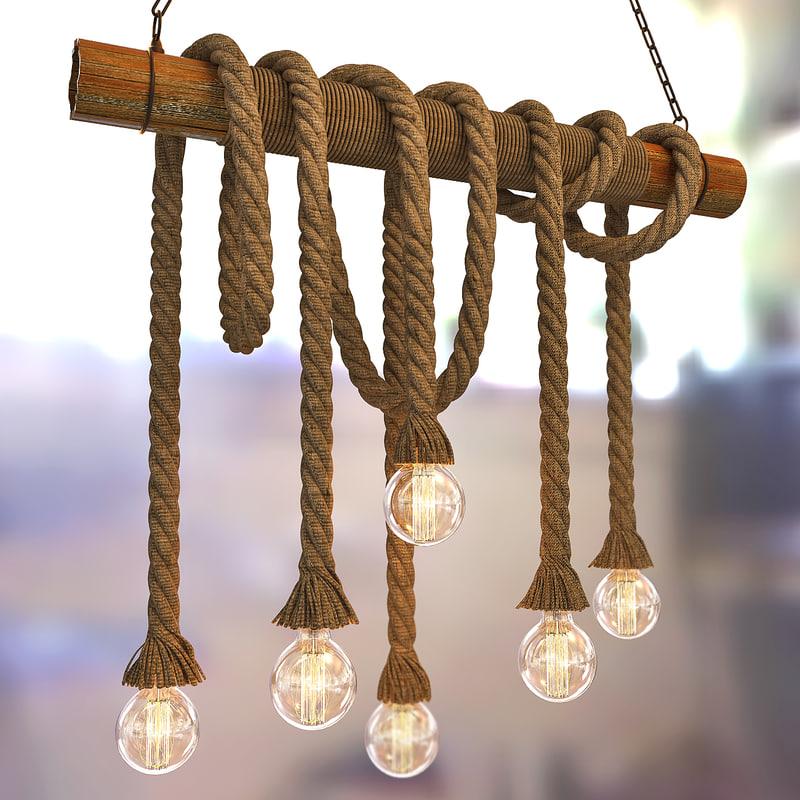 pendant lights loft 3d max