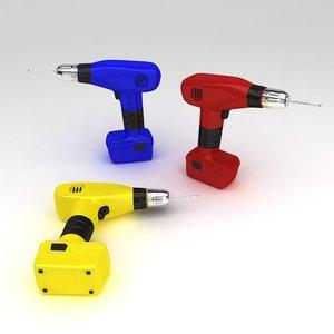 3d drill machine tool model
