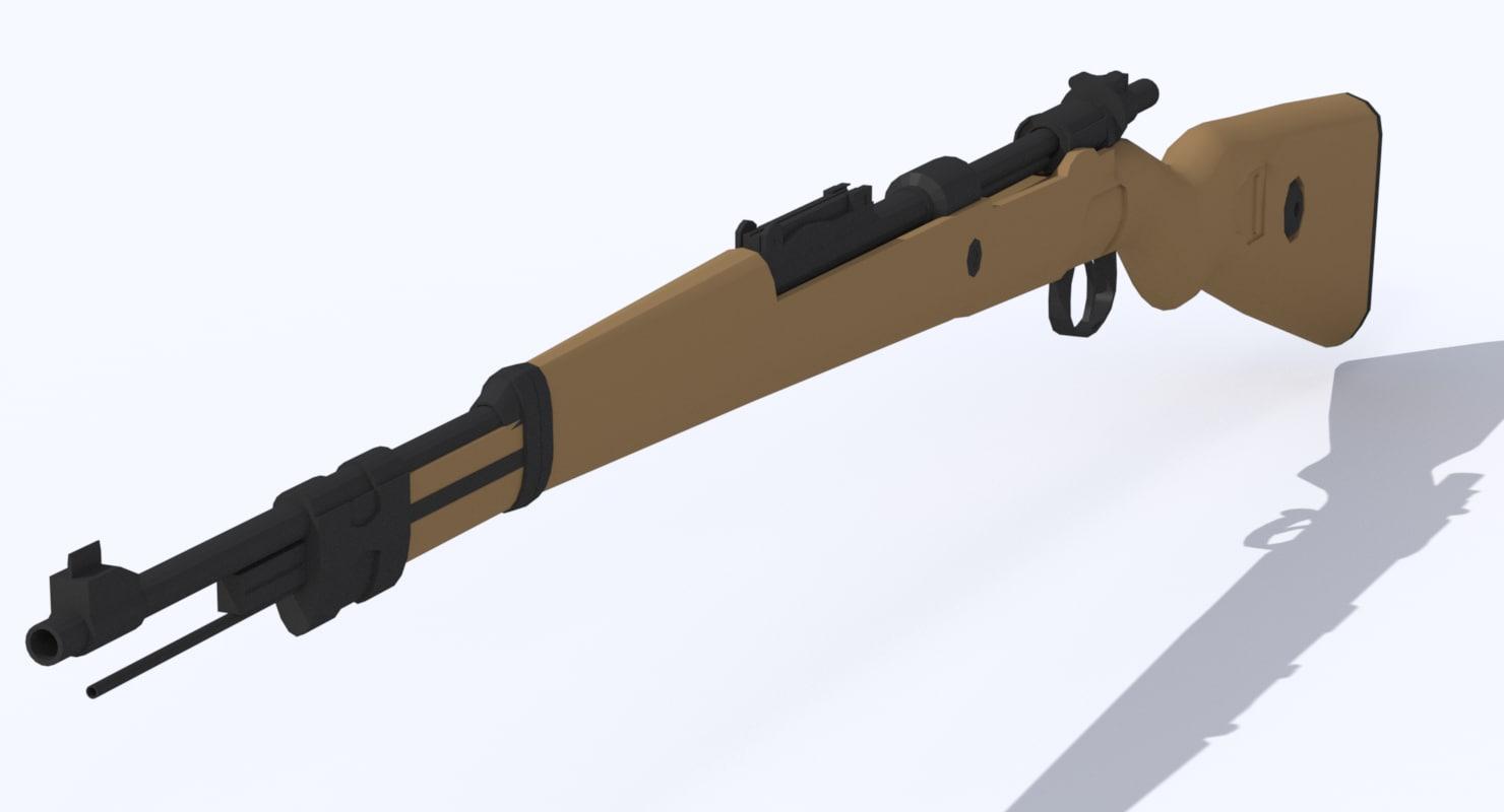 karabiner 98k rifle 3d model