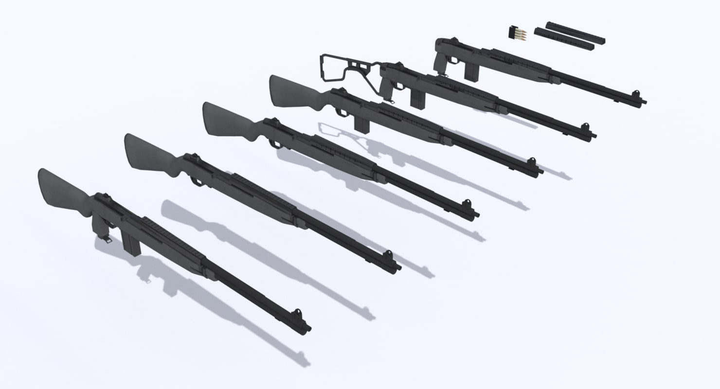 m1a1 rifle multiple variations 3ds