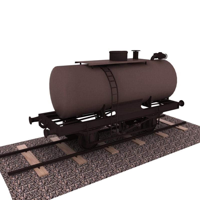 tanker wagon 3d obj