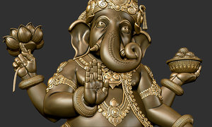 3d ganesh sculpture model