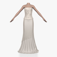 dress female 3d obj