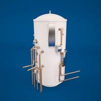 3d model of water boiler