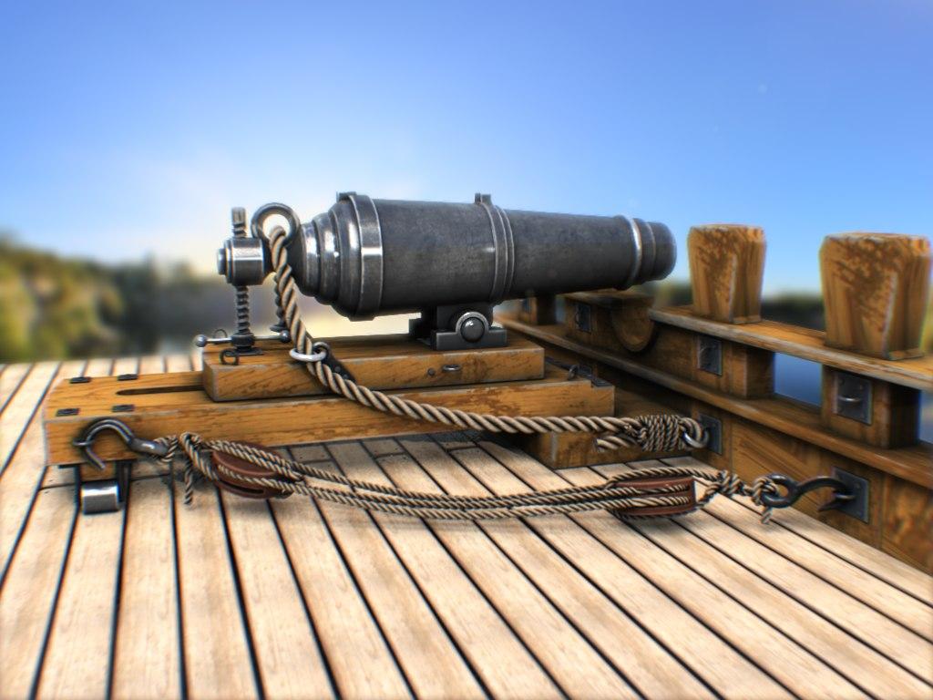 carronade cannon 3d x