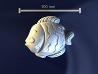 3d model fish mold hand