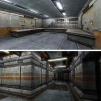 max sci-fi sawmill interior scene