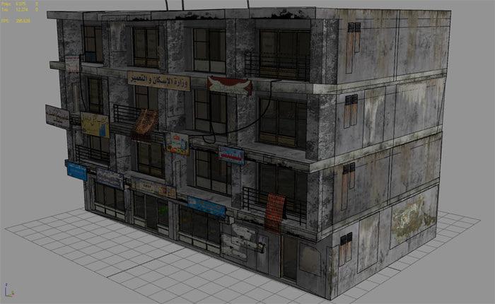 3d city arab building model