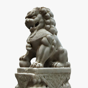 3d lion chinese model