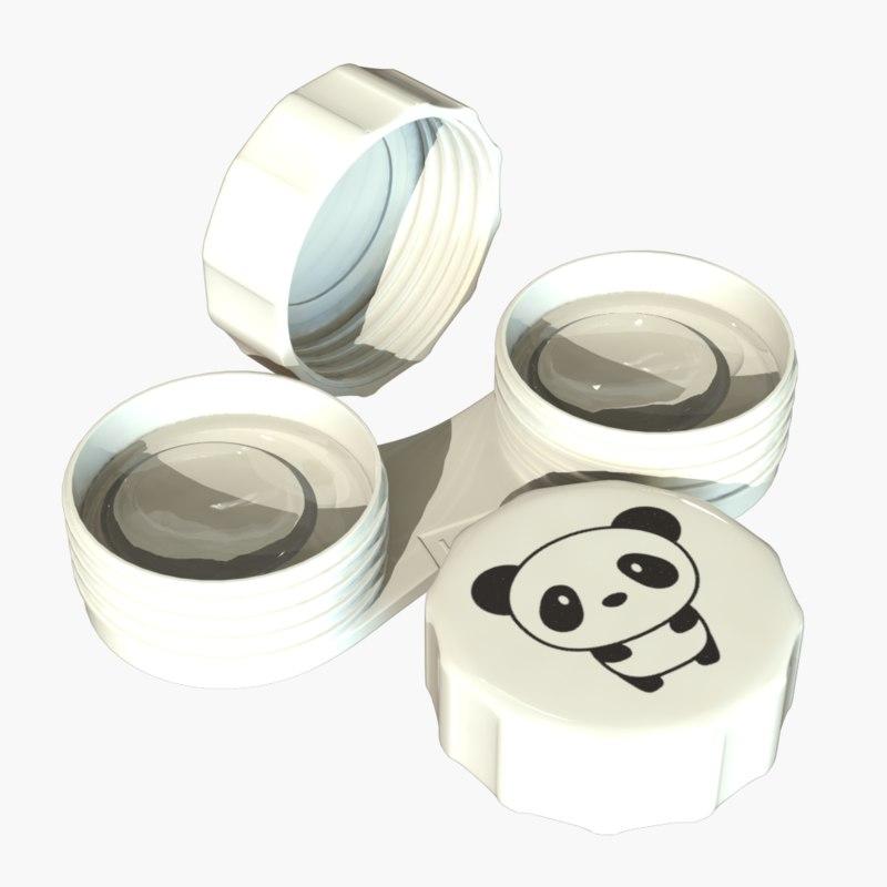 contact lens 3d model
