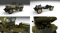 Full (w chassis) Jeep Willys MB Military