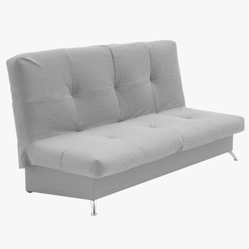 3d max click clack folding sofa