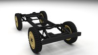 jeep willys chassis obj