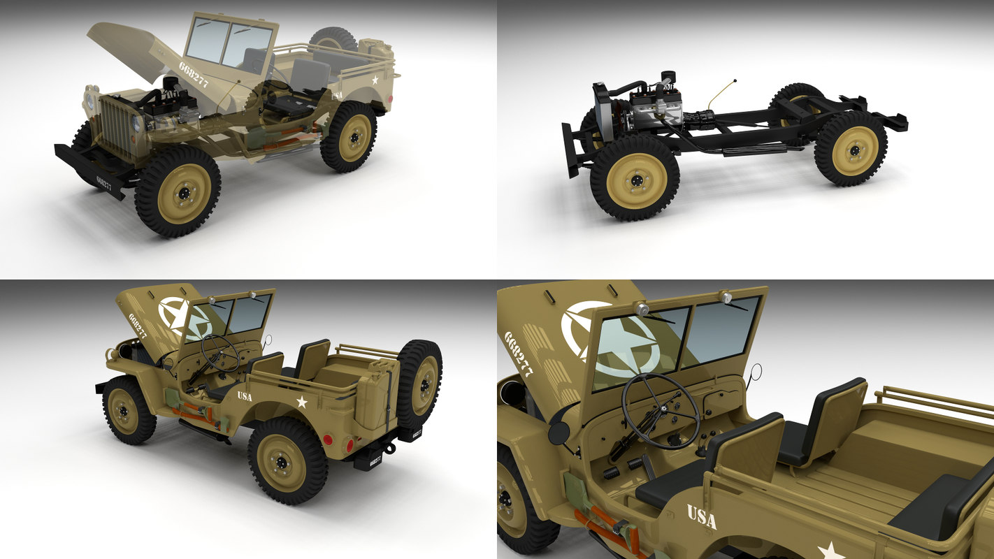 military jeep willys obj