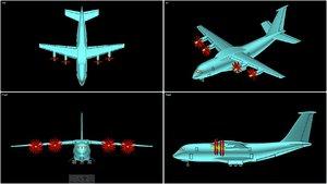 antonov an-70 transport aircraft 3d 3ds
