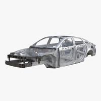 3d car frame 4 model